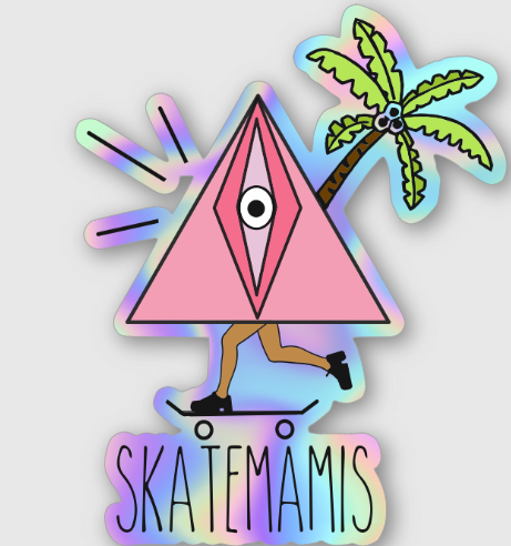 SKATEMAMIS COLOURS STICKERS