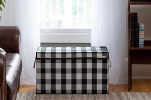Black & White - Check & Balance Storage Chest