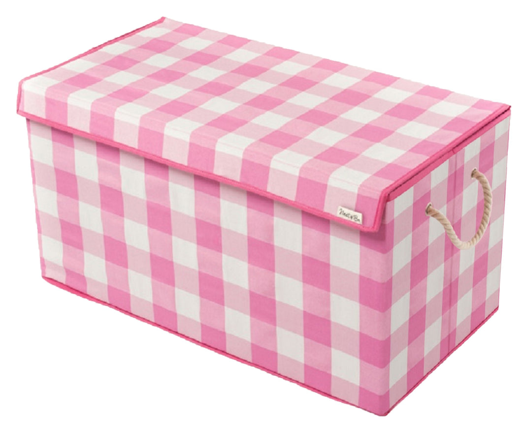 Pink & White - Check & Balance Storage Chest