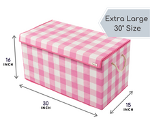 Load image into Gallery viewer, Pink & White - Check & Balance Storage Chest