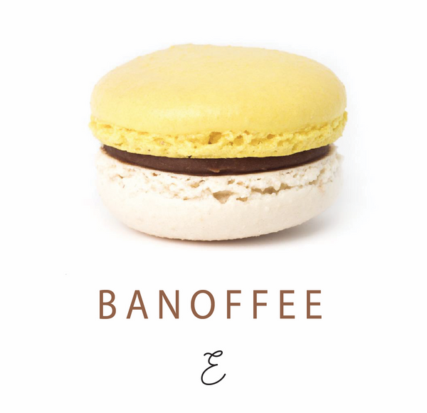 Emmalou banoffee macaron, traditional French macaron handmade in New Zealand