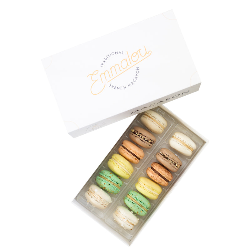 Emmalou favourites macaron box , traditional French macaron handmade in New Zealand