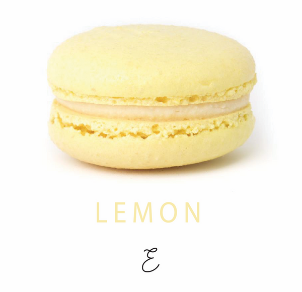 Emmalou lemon macaron, traditional French macaron handmade in New Zealand