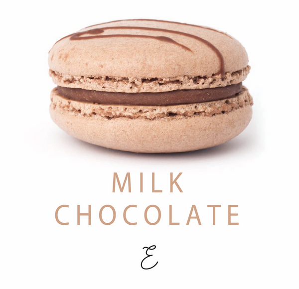 Emmalou milk chocolate macaron, traditional French macaron handmade in New Zealand