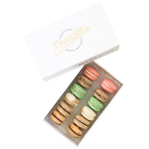 Emmalou nuts macaron box, traditional French macaron handmade in New Zealand