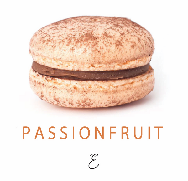 Emmalou passionfruit macaron, traditional French macaron handmade in New Zealand
