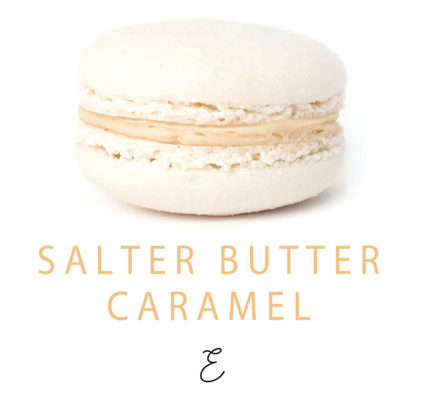 Emmalou salted butter caramel macaron, traditional French macaron handmade in New Zealand