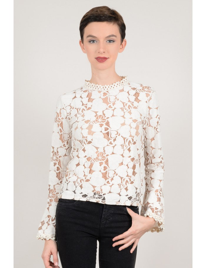 Blusa transparencias corazones Molly Bracken - Cloe Boutique