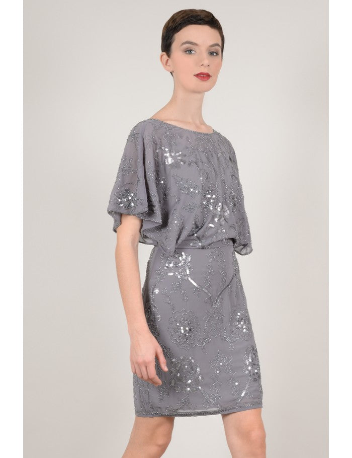 Vestido de noche con bordados y brillantes Molly Bracken - Cloe Boutique