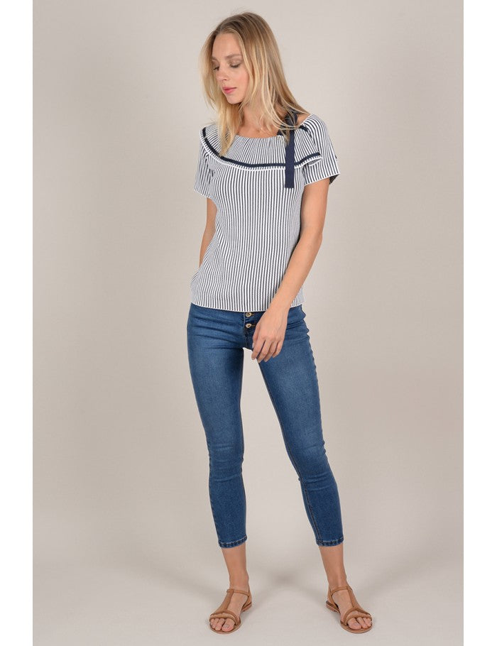 Top Navy Molly Bracken - Cloe Boutique