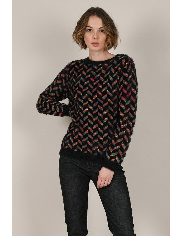 Jersey Multicolor Noir - Cloe Boutique