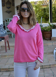 Jersey rosa chicle Siara - Cloe Boutique