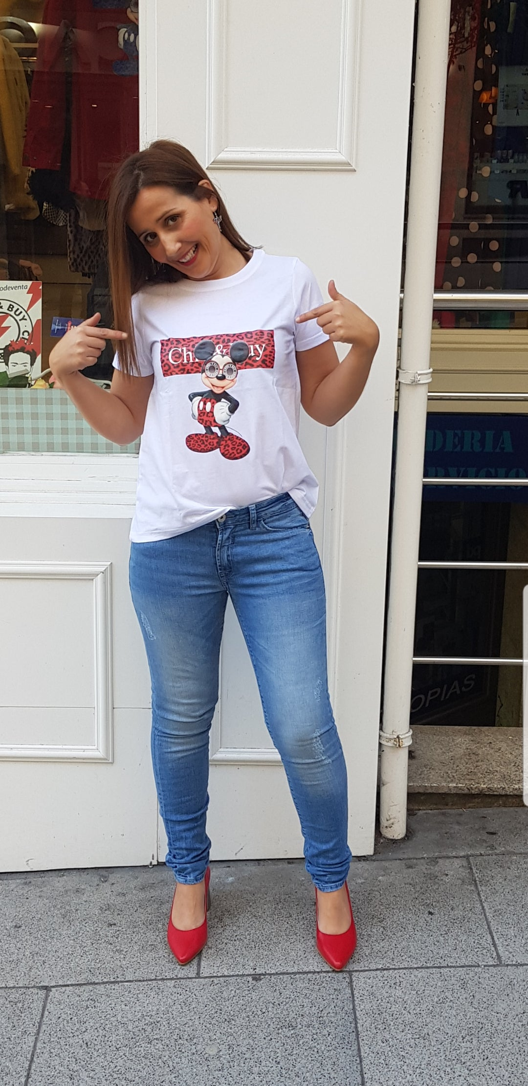 Camiseta Mickey print Chill&Buy - Cloe Boutique