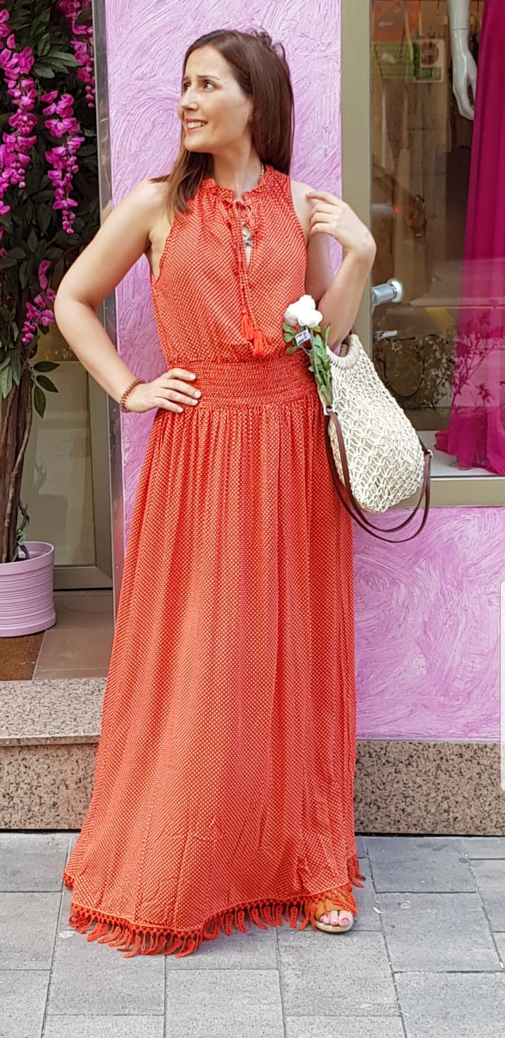 Vestido Orange Molly Bracken - Cloe Boutique