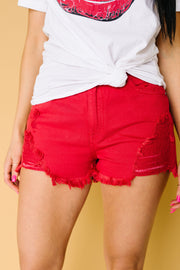 Ruby Red Kancan Shorts
