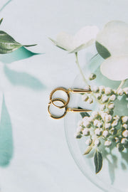 Edgy Girl Earrings - Gold & Silver