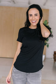 The Tate Ribbed Tee- Black