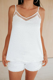 White Pebbled Cami