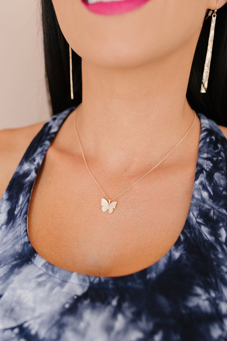 Matte Butterfly Necklace
