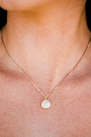 Saige Circle Pendant Necklace - 1 Left!!