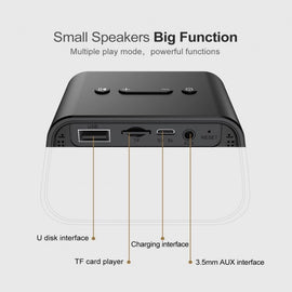 Baseus Portable Bluetooth Speaker USB AUX Super Bass - iBaseus