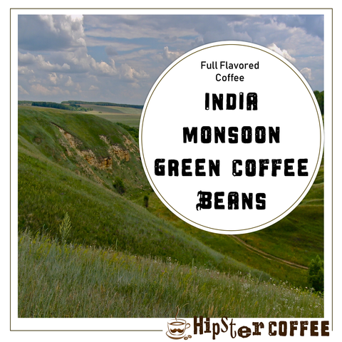 India Monsoon Green Coffee Beans