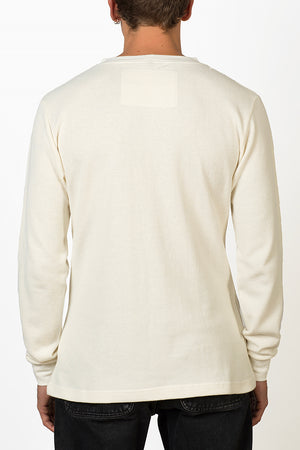 Blanco hemp mesh fabric longsleeve male back