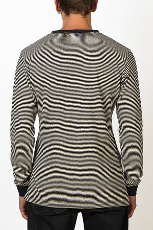 Sustainable Hemp striped long sleeve T-shirt back