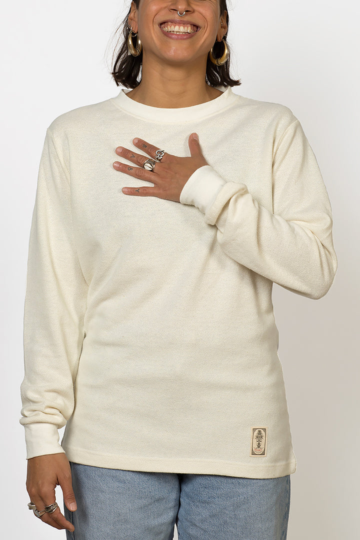 Blanco hemp mesh fabric longsleeve female front
