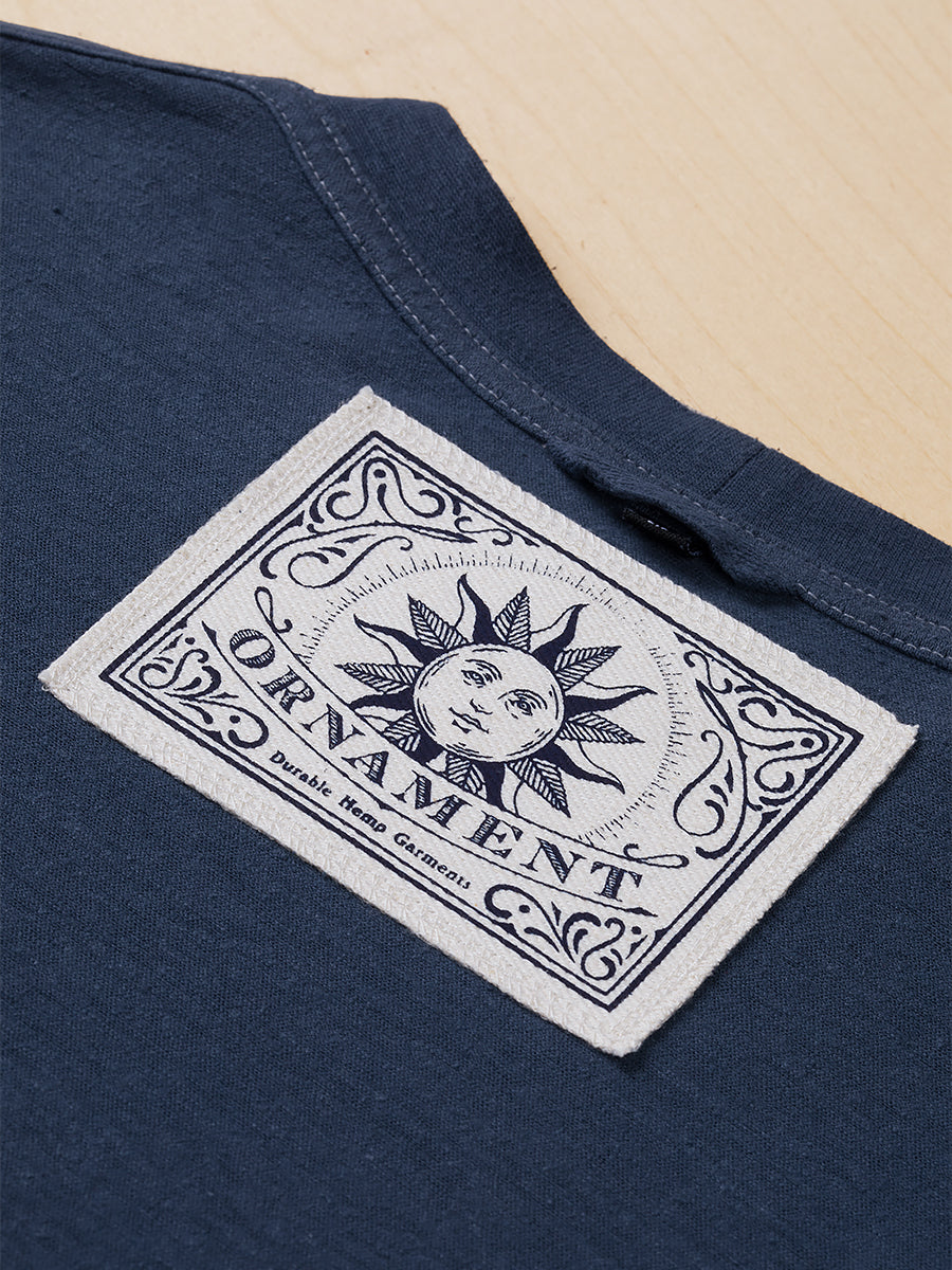 Sustainable Hemp T-shirt screen printed neck label