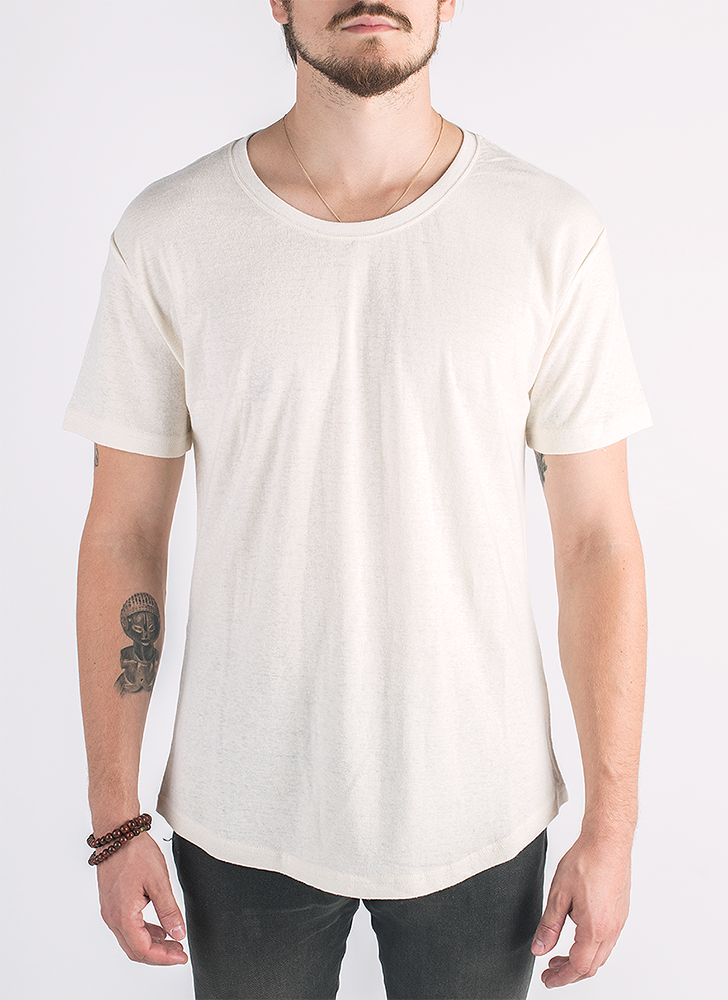 Blanco hemp and organic cotton t-shirt in natural color_ Front