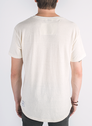 Blanco hemp and organic cotton t-shirt in natural color_ Back