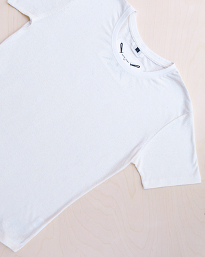 Blanco hemp and organic cotton t-shirt in natural color_ Packshot