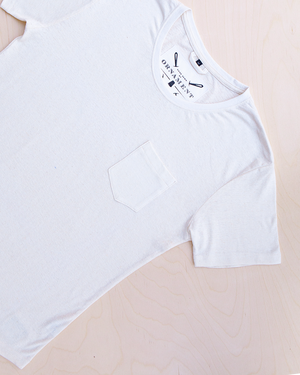 Blanco hemp T-shirt with pocket