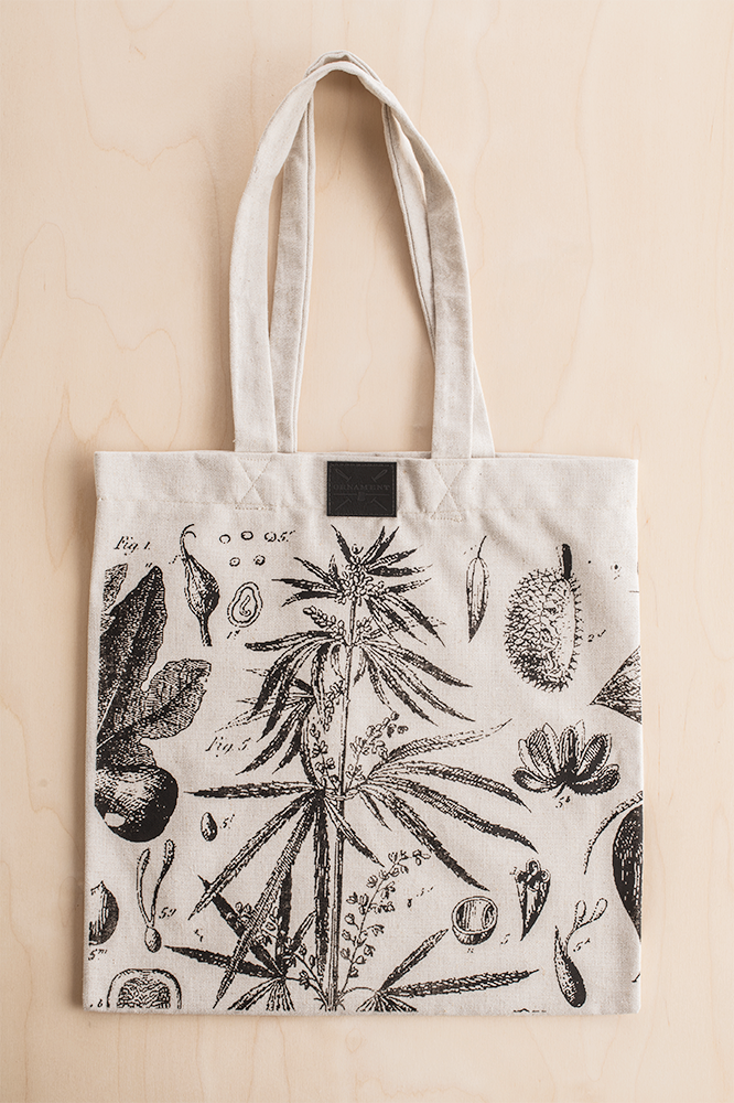 Ornament hemp revolution totebag made from 100% durable heavy hemp canvas fabric_Packshot