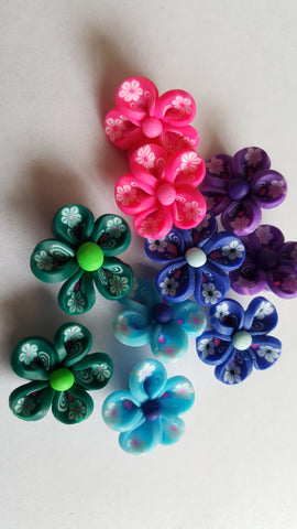 Polymer Clay Flowers 22mm