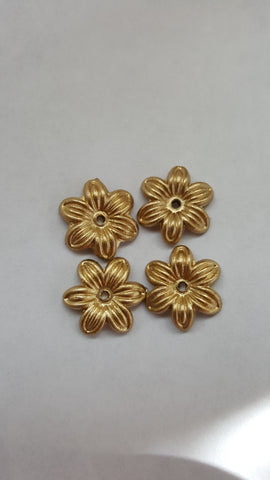 Gold Colour Acrylic Flowers