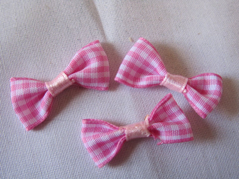Cute gingham bows, various colours