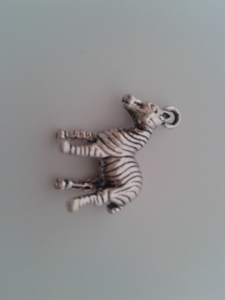 Antique Silver Zebra Charms / Pendants
