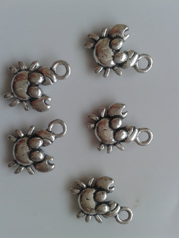 Antique Silver Crab Charms