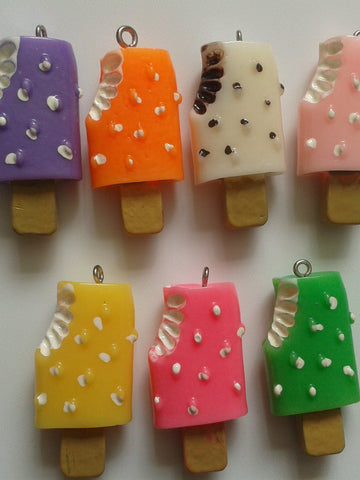 Resin Ice Lolly Charms / Pendants