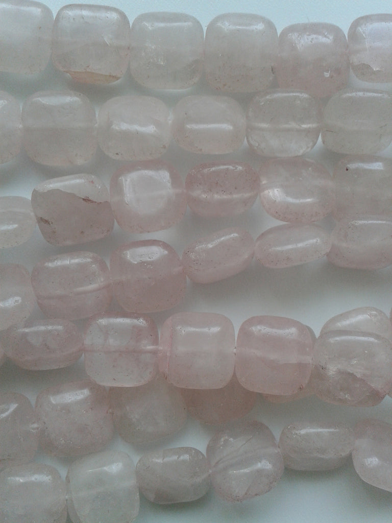12mm Rose Quartz Square Beads