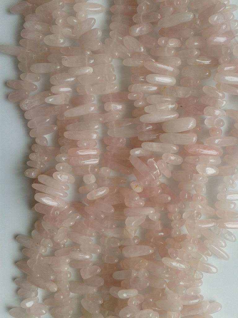 Rose Quartz Briolette Beads
