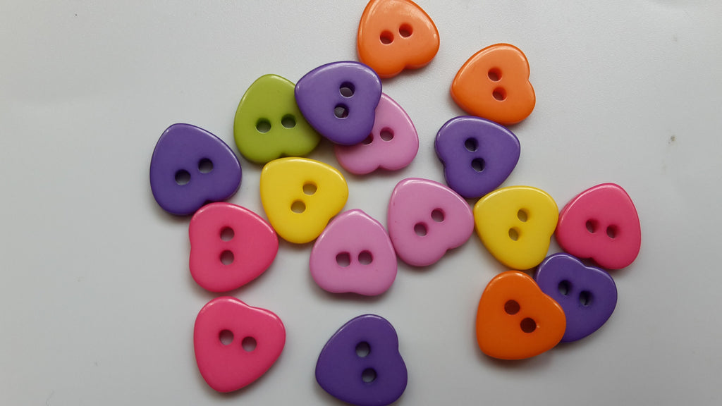 Resin Heart Buttons