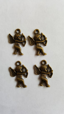 Antique Bronze Cupid Charms