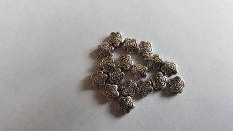 Antique Silver Flower Spacer Beads