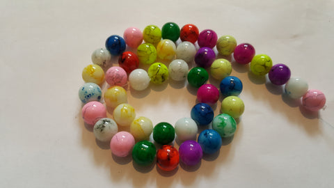 Glass Spray Painted Beads