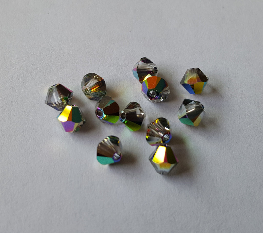 Swarovski 4mm Bicones - Vitrial Medium