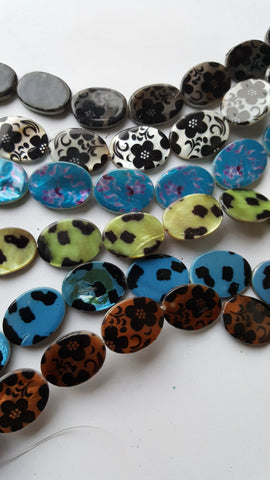 Oval Shell Beads