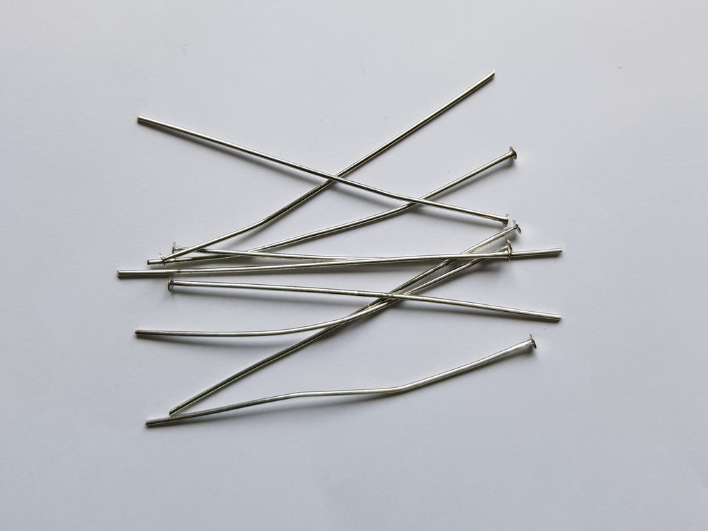 Silver Colour Head Pins 6cm